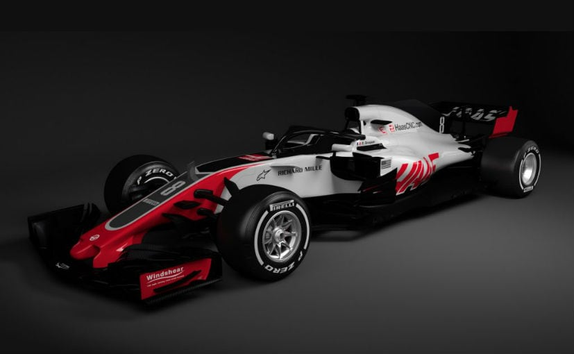 2018 haas f1 car revealed with the halo protection device ndtv carandbike. Black Bedroom Furniture Sets. Home Design Ideas