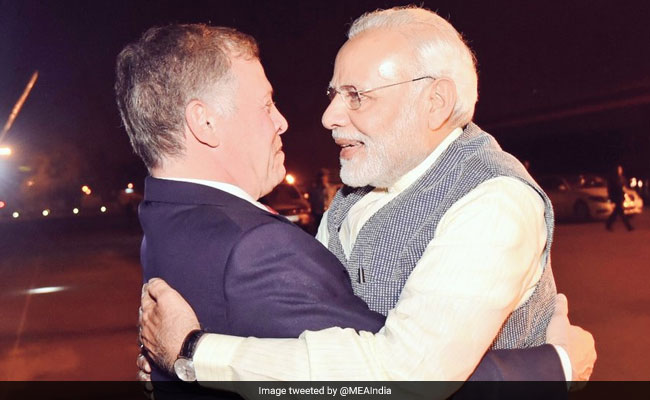 Prime Minister Narendra Modi Breaks Protocol, Receives Jordan King At Airport