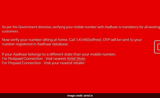 airtel how to reverify aadhaar website