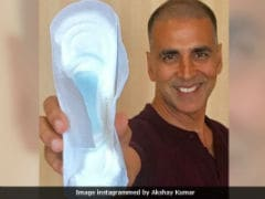 <i>PadMan</i> Star Akshay Kumar Says He Was Told On Social Media 'Holding Sanitary Pad Is A Sin'