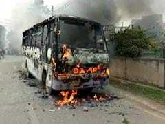 Protests In Allahabad Over Law Student's Murder, Bus Set On Fire