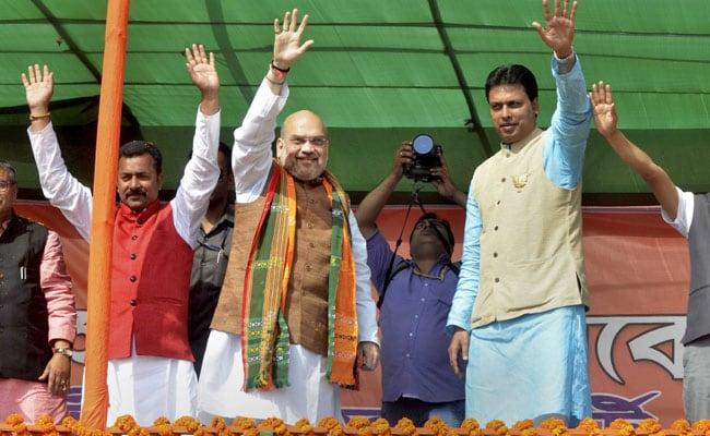 Tripura polls: Left cadres 'looting' public, vote for BJP, says Amit Shah
