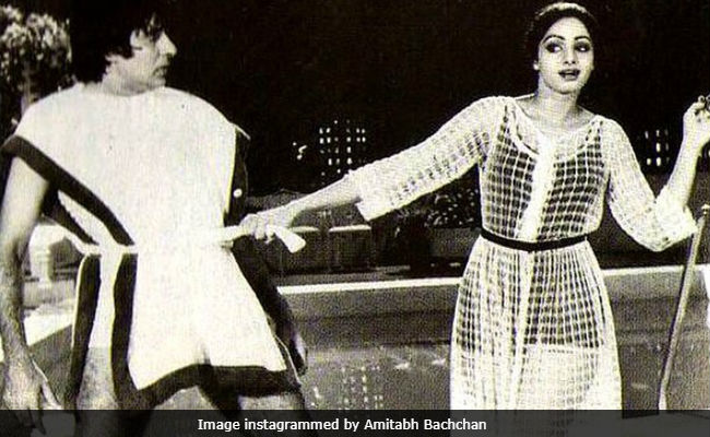 Amitabh Bachchan Deserves A Slow Clap For Sharing This Throwback Pic, Also Featuring Sridevi