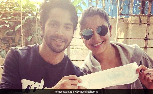 'PadMan Challenge': Sui Dhaaga Stars Anushka Sharma And Varun Dhawan Complete The Sanitary Pad Task