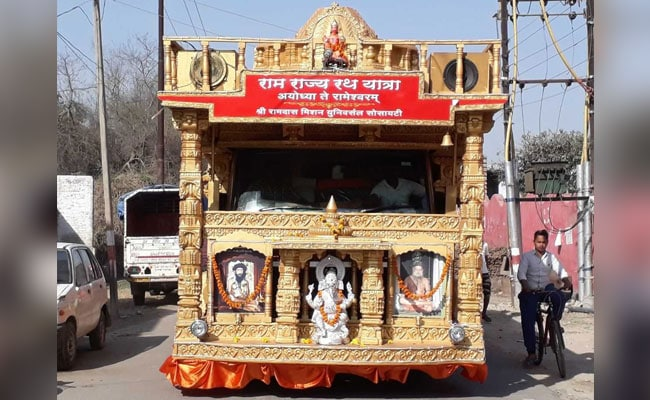From ayodhya a rath yatra begins today will travel through 6 states ayodhya rath ndtv thecheapjerseys Choice Image