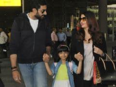 Aaradhya, Aishwarya And Abhishek Bachchan Are Back. How Cute Is Aaradhya?