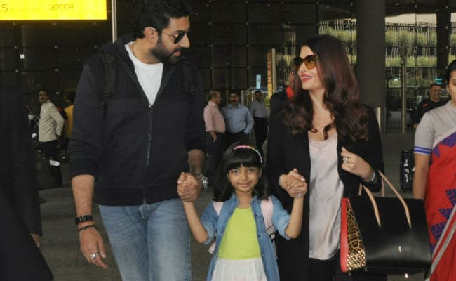 Aaradhya, Aishwarya And Abhishek Bachchan Are Back. How Cute Is Aaradhya?
