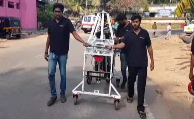 In Trial Run, Manhole-Cleaning Robot Replaces Humans In Kerala