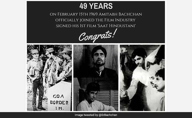 Amitabh Bachchan को फिल्म इंडस्ट्री में हुए 49 साल, गुजरे जमाने को ऐसे किया याद