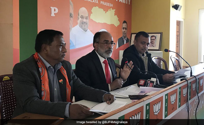 BJP Relases ''Chargesheet'' Against Congress Government In Meghalaya
