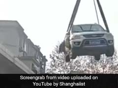 Watch: How An Illegally Parked Car Ended Up On Building Roof