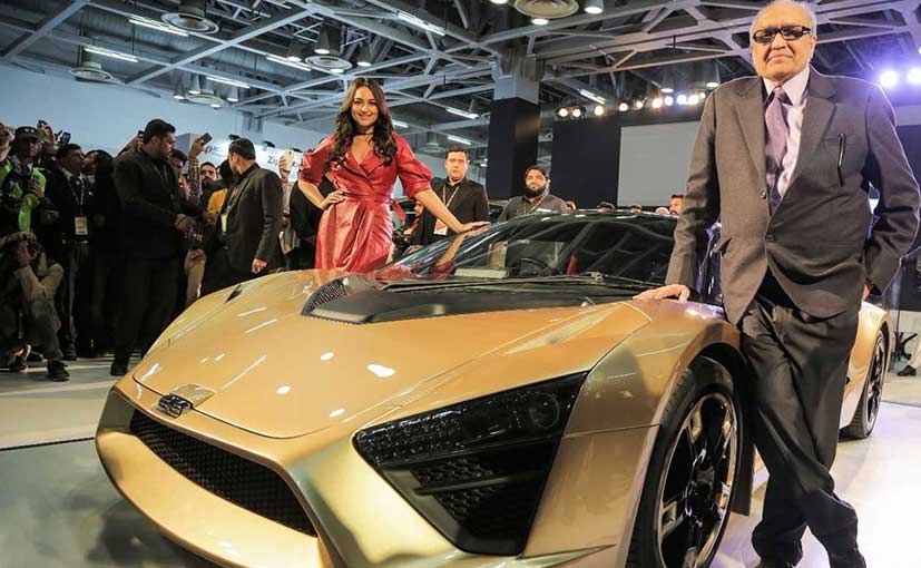 Bollywood actor Sonakshi Sinha was at the Auto Expo 2018 to unveil the new TCA sports car from DC Design