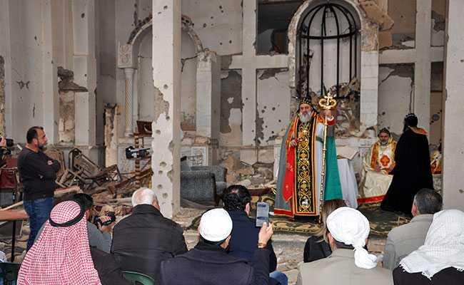 First Prayer Held In Years In Syria's Ravaged Deir Ezzor Church