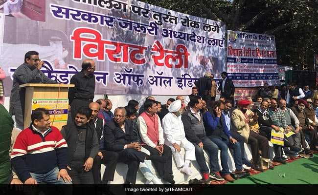 Delhi Traders Hold Mega Rally To Protest Ongoing Sealing Drive