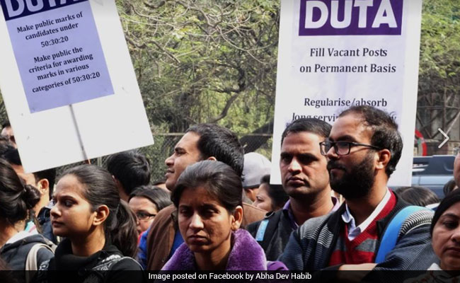 Delhi University Teachers On Warpath Over Sacking Of Ad-Hoc Colleagues