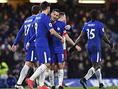 Premier League: Antonio Conte Thanks Chelsea Fans As Eden Hazard Double Eases Pressure