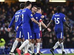 Antonio Conte Thanks Chelsea Fans As Eden Hazard Double Eases Pressure