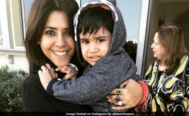 Seen This Cute Pic Of Baby Laksshya With Bua Ekta Kapoor?