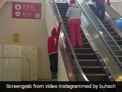 Watch: Olympic Skier's Escalator Stunt Deserves A Medal