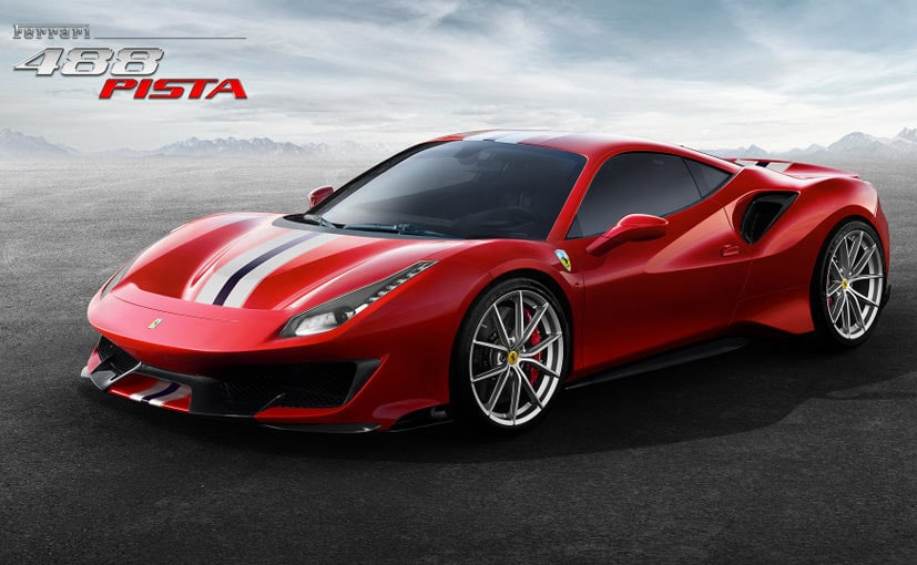the ferrari 488 pista gets the most powerful v8 ever. Black Bedroom Furniture Sets. Home Design Ideas