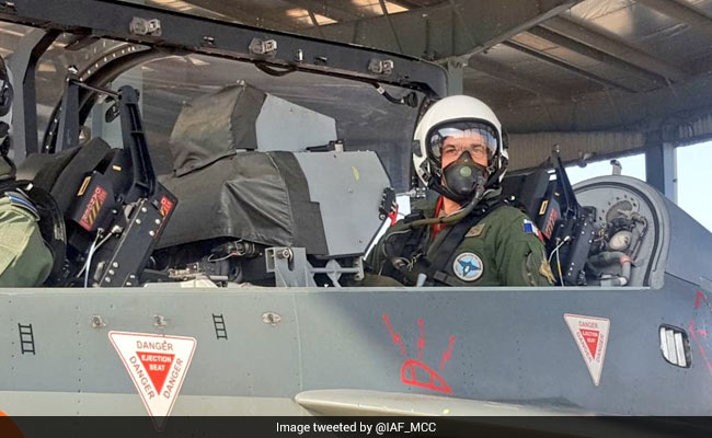 French Air Force Chief General Andre Lanata Takes Sortie On Tejas