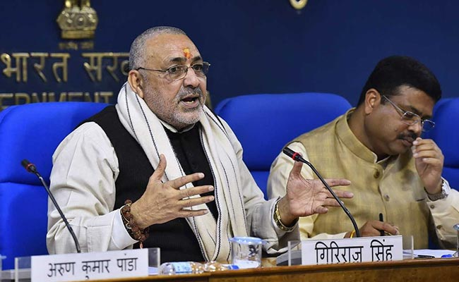 Union Minister Giriraj Singh Is Accused No. 25 In Bihar Land Grab Case