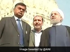 Iranian President Hassan Rouhani Visits Qutub Shahi Tombs In Hyderabad