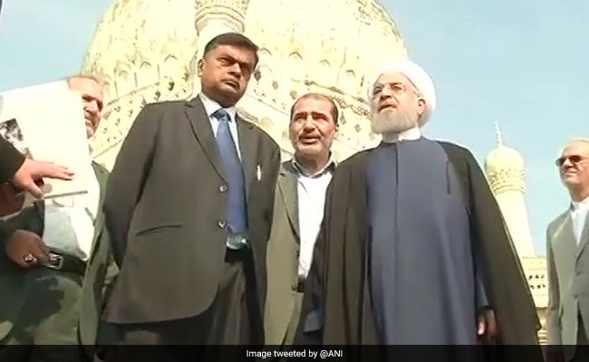 Image result for pics of Rouhani in hyderabad
