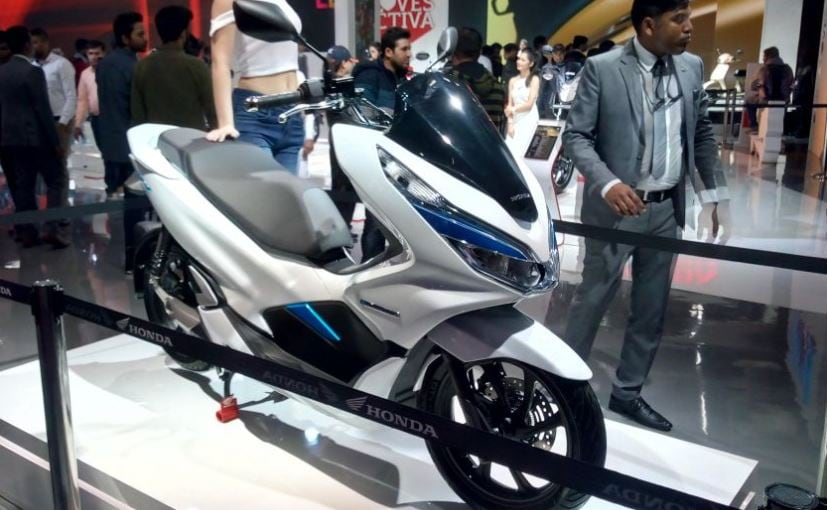 Honda Pcx Electric >> Auto Expo 2018 Honda Pcx Electric Concept Makes Its India Debut