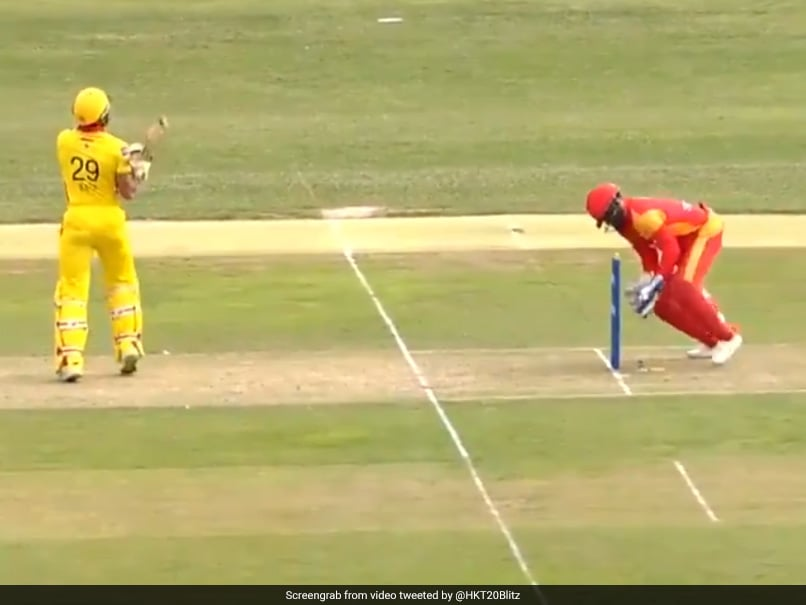 Watch: Wicketkeeper Misses Easy Stumping Chance, Gets Death Stare From Bowler