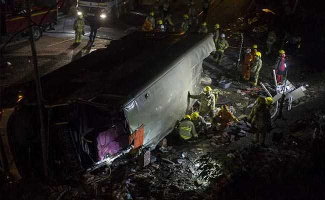 At least 19 dead in bus crash in Hong Kong
