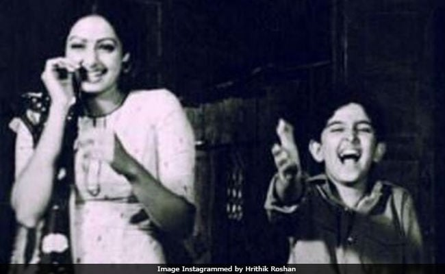 How Sridevi Helped A Nervous (And Very Young) Hrithik Roshan Through An Early Film Scene
