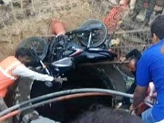 Watch: Biker In Hyderabad Saved After Falling In A 20-Feet Deep Manhole
