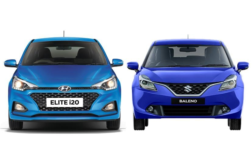 The base model of the Hyunai i20 is cheaper than the base variant of the Maruti Suzuki Baleno