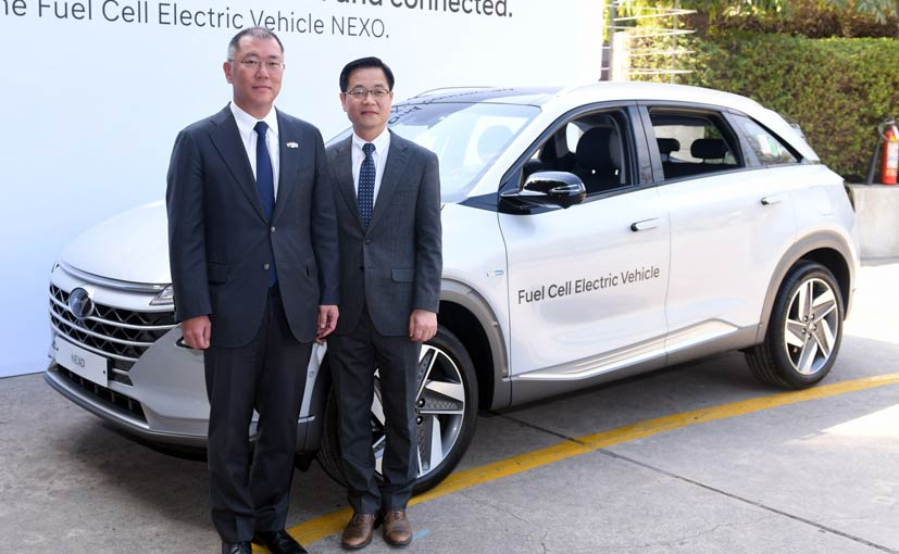 Hyundai NEXO Fuel Cell EV Showcased At India-Korea Business Summit