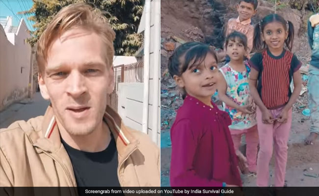 Foreigner Goes To Haryana, Speaks In Hindi. Reaction Of Locals Is Viral