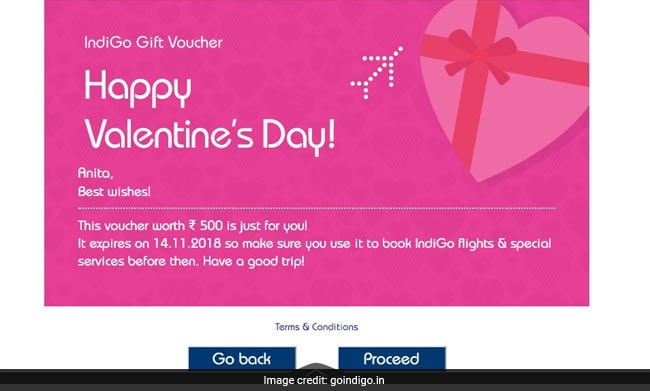 Valentine S Day 2018 Indigo Offers Rs 1 200 Discount On Gift