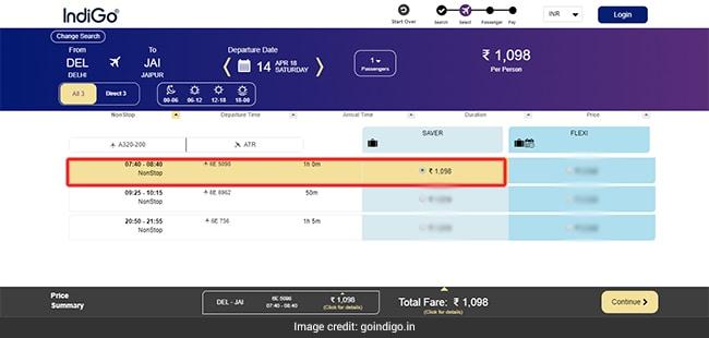 Indigo flight booking discount coupons