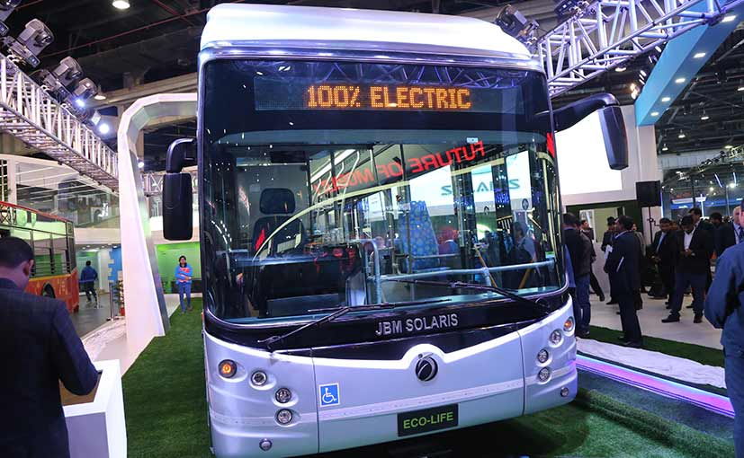 Auto Expo 2018: JBM, Solaris Launches Eco-Life Electric Bus; Prices Start At ₹ 2 Crore