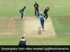 Watch: Cricket Ball Hits Bowler