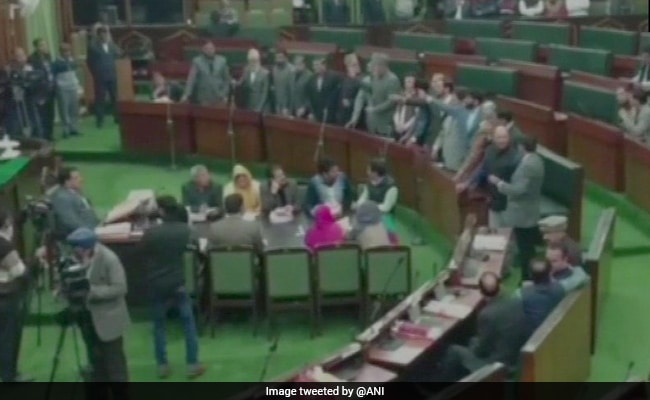 Anti-Pakistan protests against Sunjwan terror attack in JK Assembly