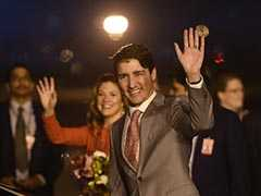 Canada PM Justin Trudeau Welcomed In Dehi: Highlights