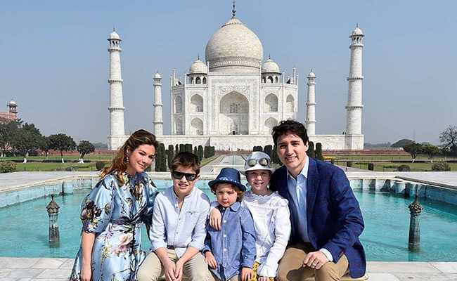Trudeau and family visit Gandhi ashram in Gujarat