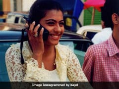 Kajol Posted A Throwback Picture From The Days 'When Phones Were Big'