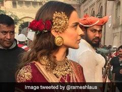 Leaked Photos: जूनागढ़ में कुछ यूं 'झांसी की रानी' बनी नजर आईं कंगना रनोट