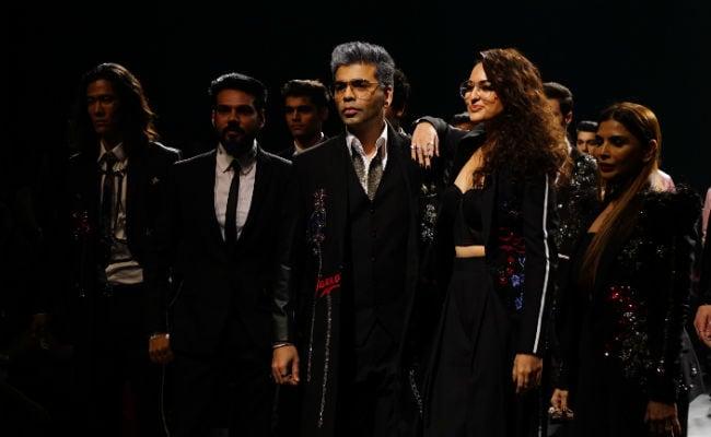 Karan Johar dazzles in 'grey' hairdo for Lakme Fashion Week 2018
