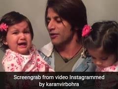 लंबे वक्त बाद मिले पिता करणवीर बोहरा तो Viral Video में देखें कैसे बेटियों ने जताई नाराजगी