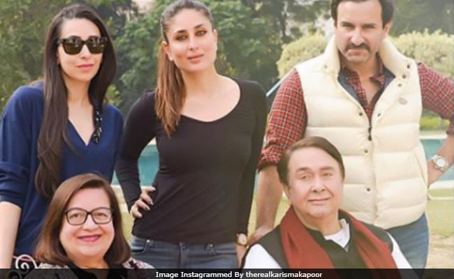 Kareena, Karisma celebrate daddy Randhir Kapoor's 71st birthday