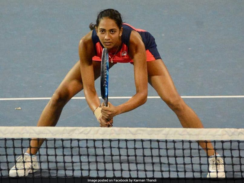 Fed Cup: Karman Kaur Thandi Puts India Ahead With Win Over Eudice Chong