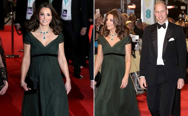 Duchess of Cambridge Kate bucks the black trend at Baftas (Gallery)